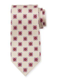 Kiton Fancy Medallion Silk Tie