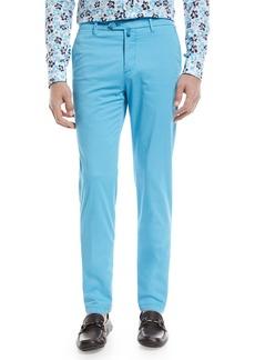 Kiton Flat-Front Chino Pants