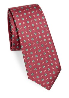 Kiton Floral Geo Silk Tie