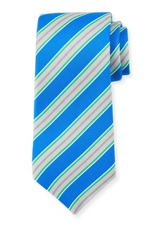 Kiton Framed Striped Silk Tie
