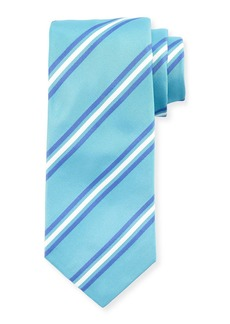 Kiton Framed Stripes Silk Tie