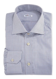 Kiton Graph-Check Cotton Dress Shirt