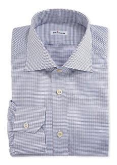 Kiton Graph-Check Cotton Dress Shirt