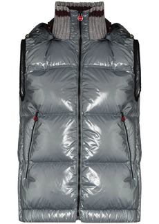 Kiton hooded quilted gilet