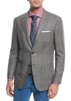 Kiton Large-Plaid Cashmere Sport Coat