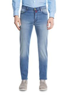 Kiton Light-Wash Denim Straight-Leg Jeans