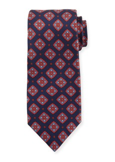 Kiton Medallion Boxes Silk Tie