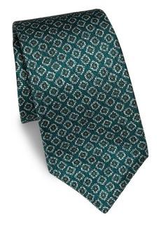 Kiton Medallion Patterned Silk Tie