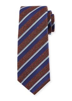 Kiton Melange-Stripe Silk Tie