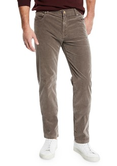 Kiton Men's 5-Pocket Straight-Leg Corduroy Pants