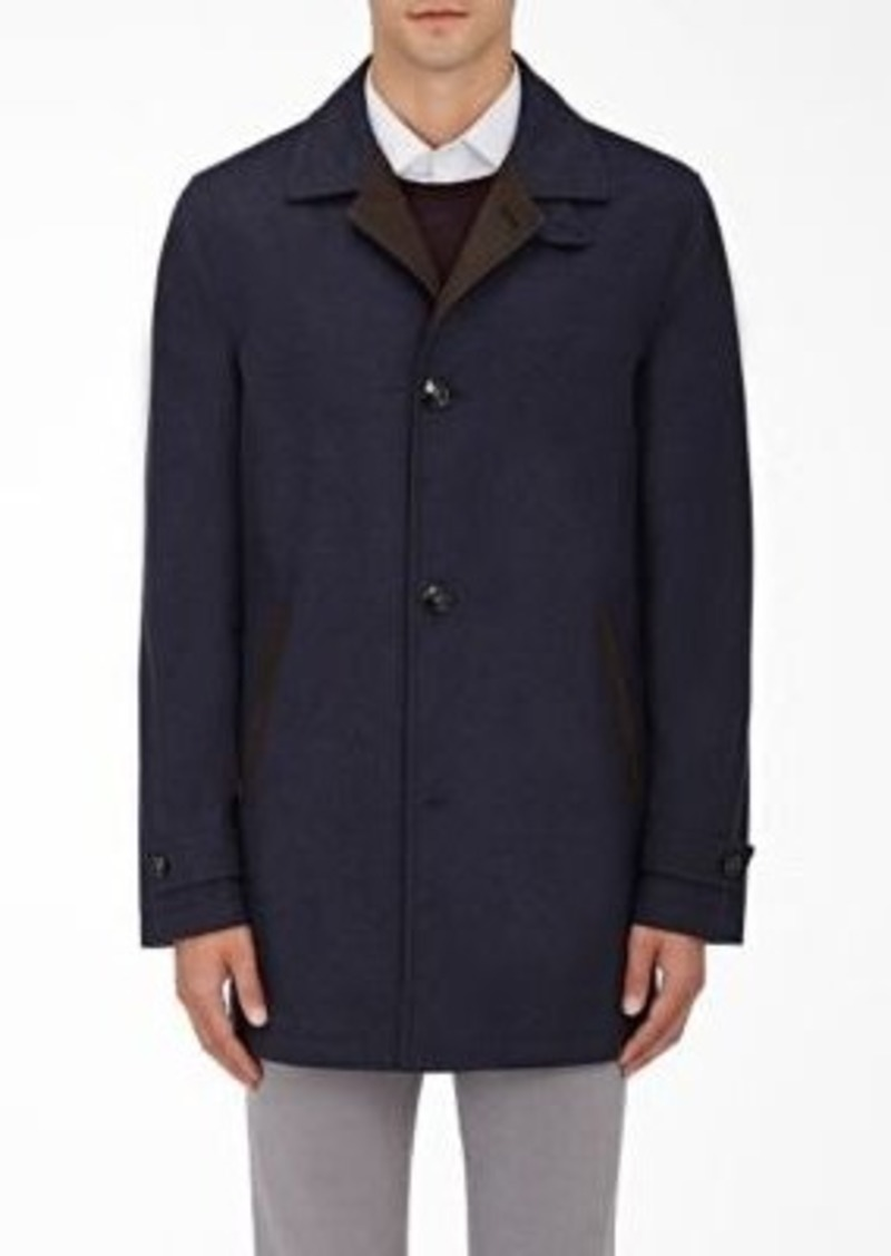 Kiton Men's Cashmere-Silk Coat-Navy Size L
