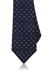 Kiton Men's Circle-Print Silk Necktie