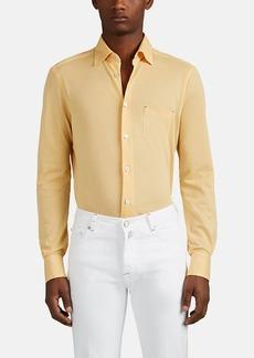 Kiton Men's Cotton Piqué Shirt