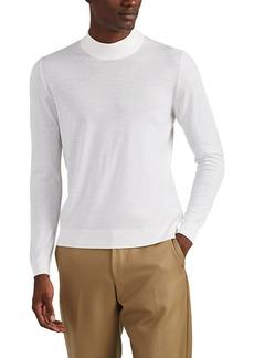 Kiton Men's Fine-Gauge Wool Mock-Turtleneck Top
