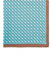 Kiton Men's Geometric-Print Silk Pocket Square