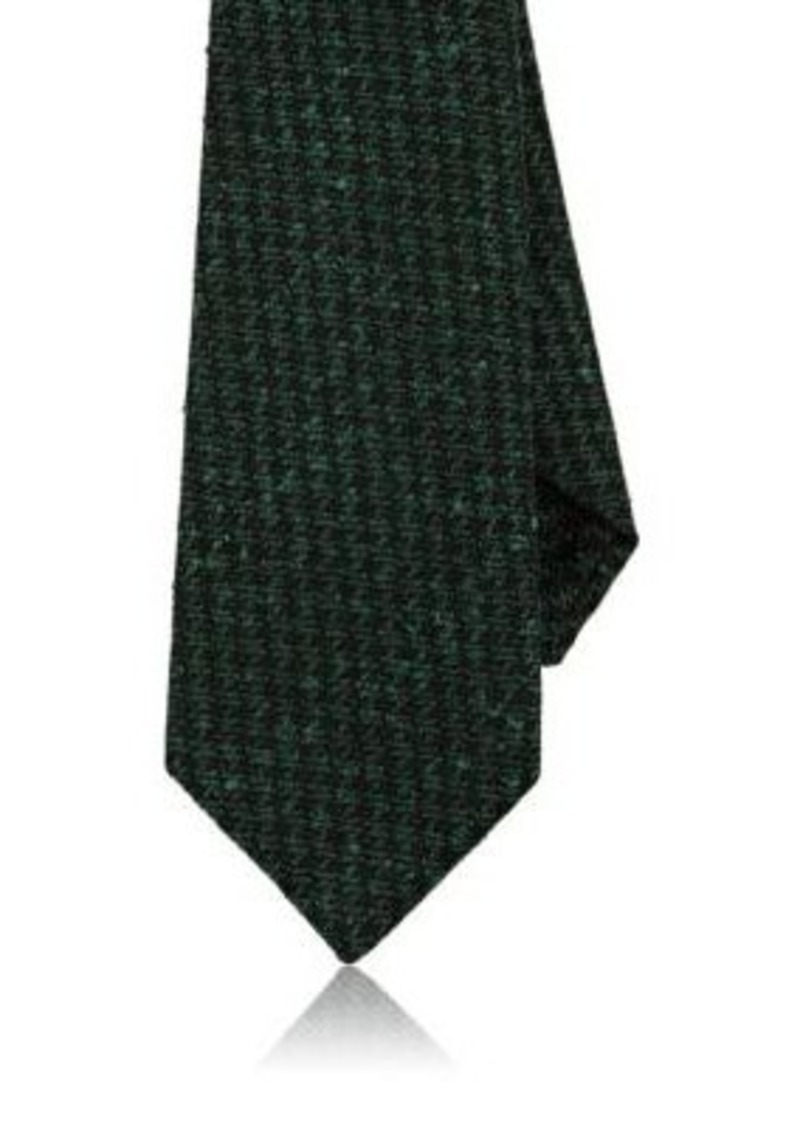 Kiton Men's Houndstooth Wool-Silk Necktie