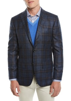 Kiton Men's Plaid Cashmere-Blend Sport Coat