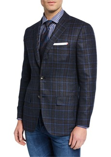 Kiton Men's Plaid Cashmere Sport Coat