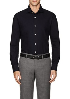 Kiton Men's Textured-Stripe Cotton Shirt