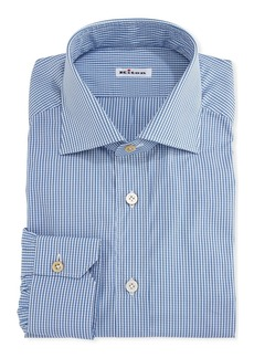Kiton Micro-Check Cotton Dress Shirt