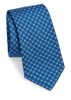 Kiton Silk Mini Diamond-Print Tie