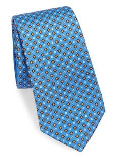 Kiton Mini Diamonds Silk Tie