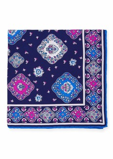 Kiton Moroccan Silk Pocket Square