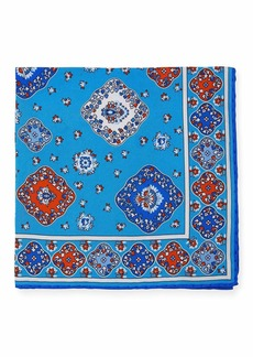 Kiton Moroccan Silk Pocket Square