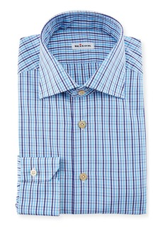 Kiton Multi-Check Dress Shirt