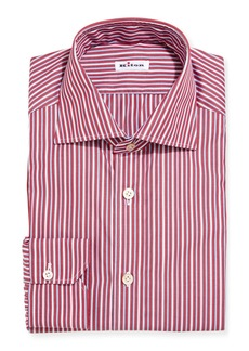 Kiton Multi-Stripe Cotton Dress Shirt