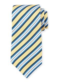 Kiton Multi-Stripe Textured Silk Tie