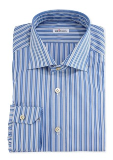 Kiton Multi-Striped Cotton Dress Shirt