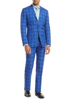 Kiton Ombre Plaid Two-Piece Suit