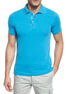 Kiton Piqué Snap-Front Polo Shirt