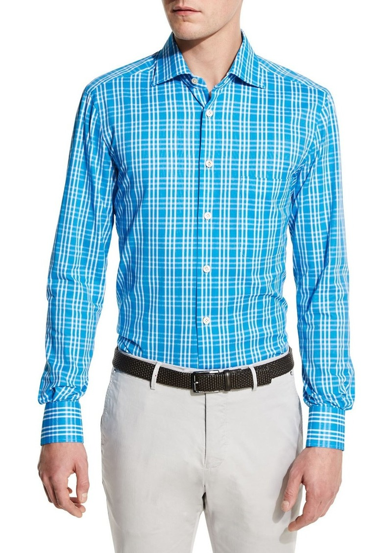 eeda97ad2e On Sale today! Kiton Kiton Plaid Sport Shirt