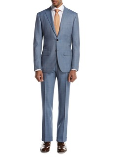 Kiton Plaid Super 160s Wool Two-Piece Suit