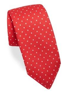 Kiton Polka Dot Silk Tie