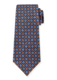 Kiton Silk Medallion-Print Tie