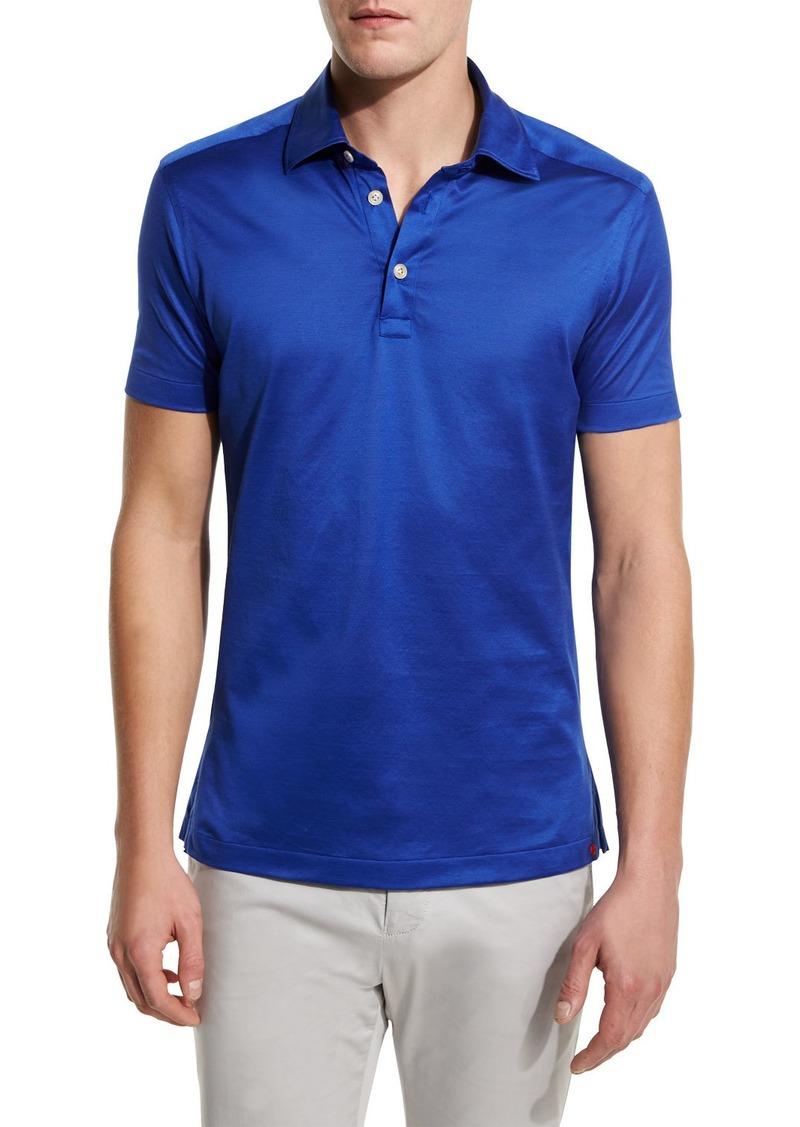 Kiton Solid Sateen Polo Shirt