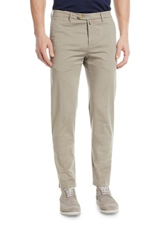 Kiton Straight-Leg Twill Pants