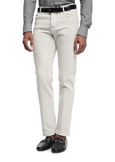 Kiton Stretch-Denim Straight-Leg Jeans