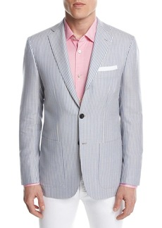 Kiton Striped Cashmere Two-Button Sport Coat