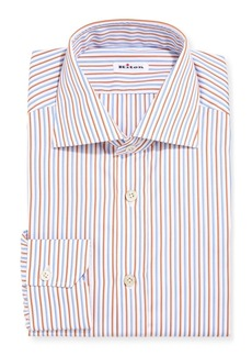 Kiton Striped Cotton Dress Shirt