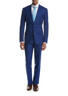 Kiton Textured Solid Two-Piece Suit