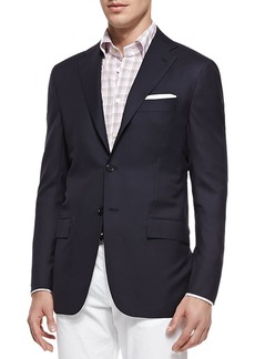 Kiton Three-Button Wool Blazer
