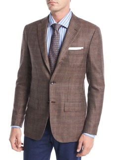 Kiton Tic Cashmere Three-Button Sport Coat