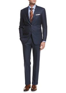 Kiton Tonal-Stripe Wool Two-Piece Suit