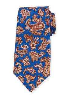 Kiton Tossed Pines Paisley Silk Tie