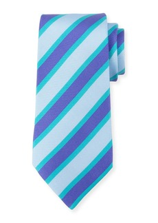Kiton Tricolor Striped Silk Tie