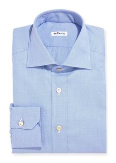 Kiton Twill Cotton Dress Shirt